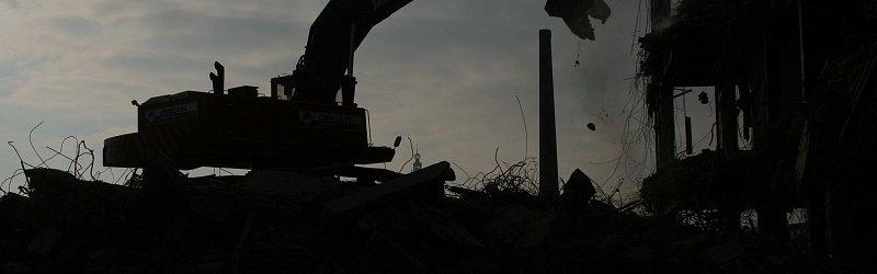 Демонтаж металлокаркаса стен